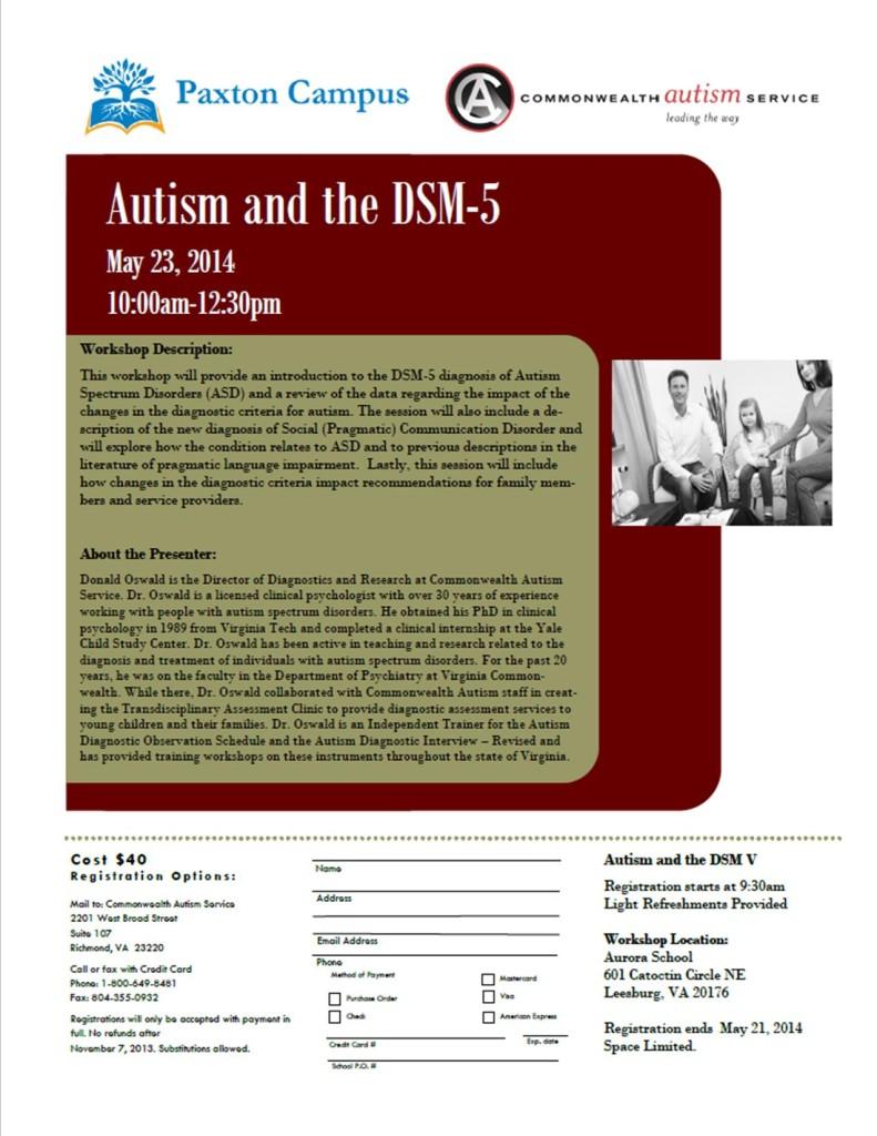 autism and dsm 5