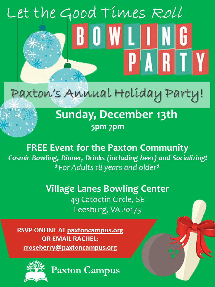Paxton Holiday Party 2015 - Cosmic Bowling