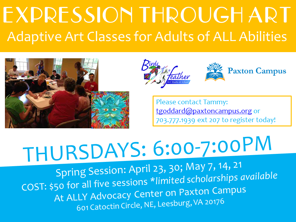 Expressions through Art, Adaptive Art Classes for Adults with Disabilities