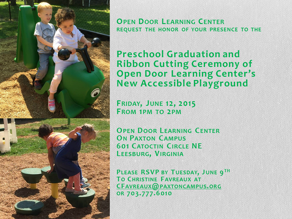 ODLC Graduation and Playground Invite