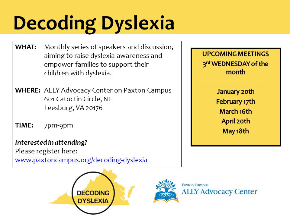 Decoding Dyslexia Partnership Flyer